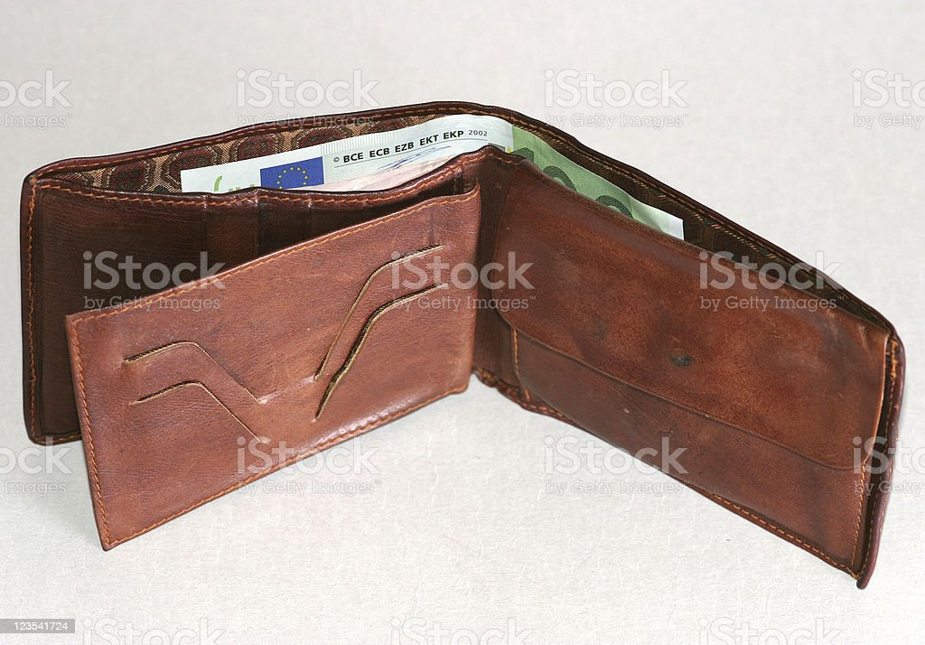 Open wallet royalty-free stock photo