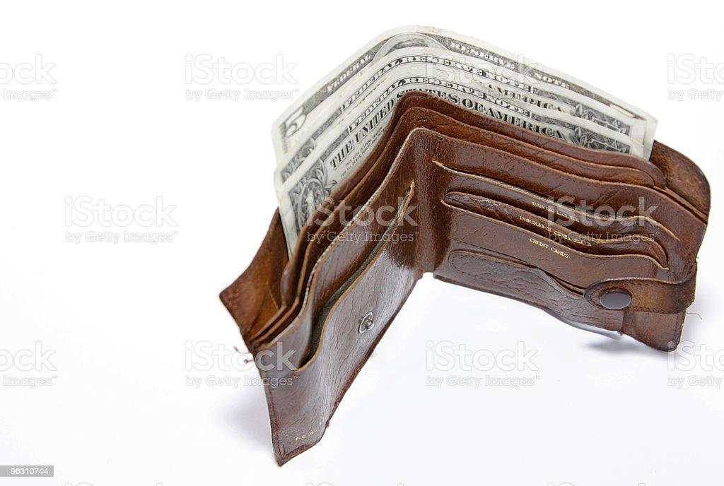 open wallet stock photo