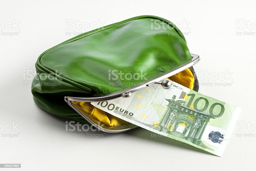 open wallet with european union currency royalty-free stock photo