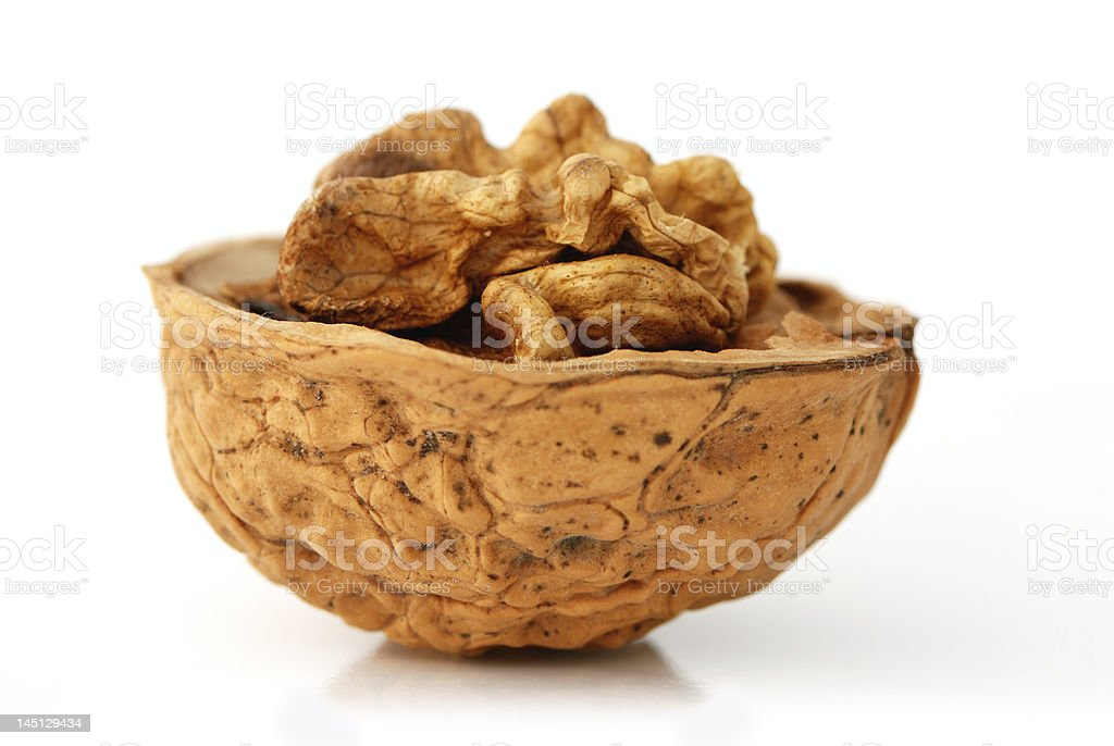 Open Walnut side view royalty-free stock photo