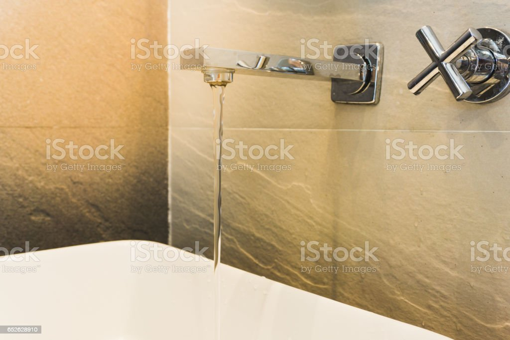 open water tab with sink stock photo