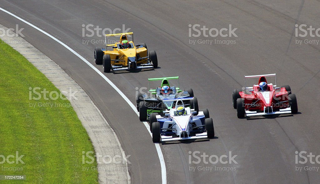 Open Wheel Racecar stock photo