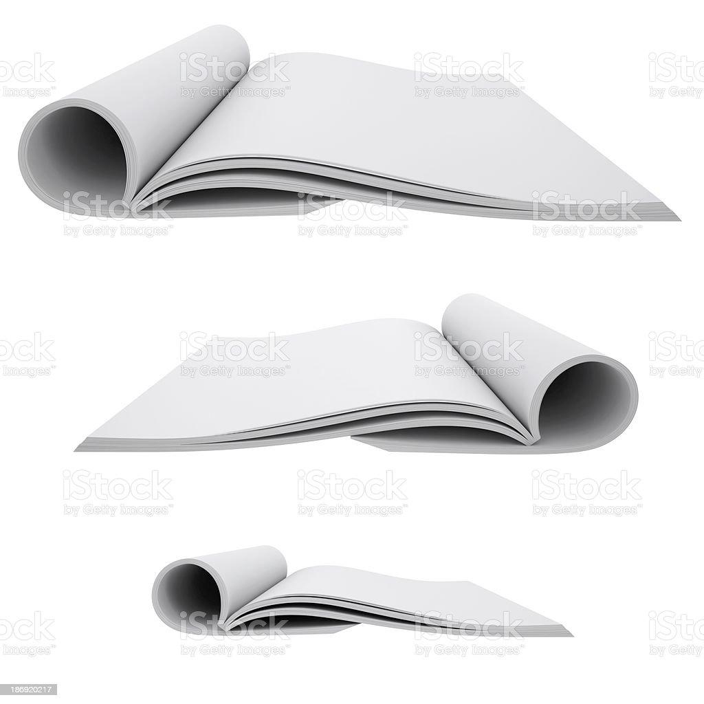 Open white book royalty-free stock photo