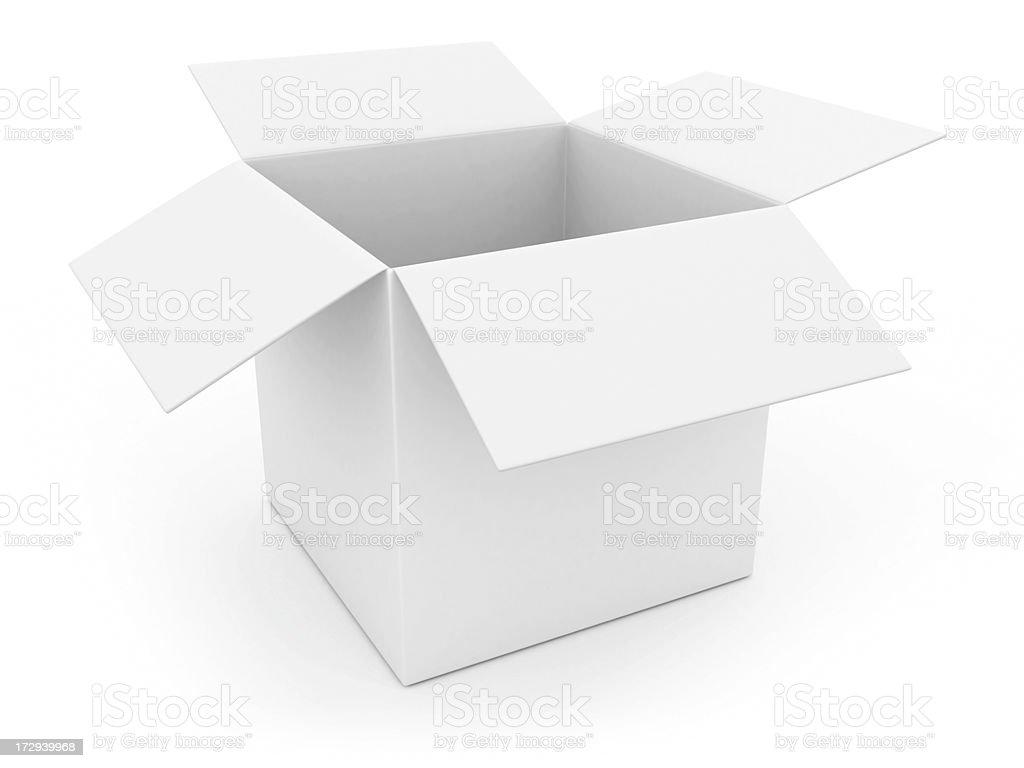open white box royalty-free stock photo