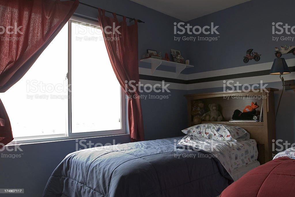 open window in child's room stock photo