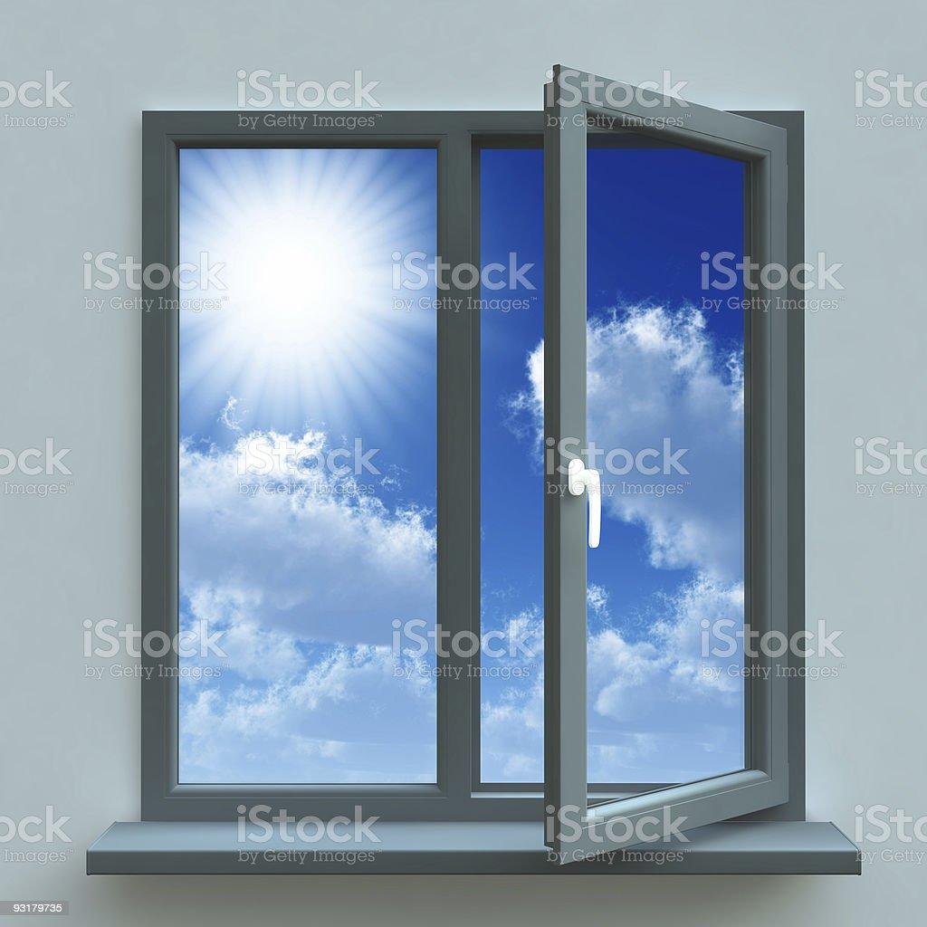 Open window royalty-free stock photo