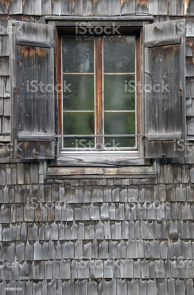 Open window shutter royalty-free stock photo