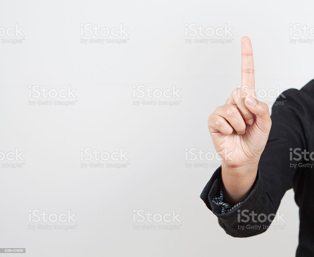 Open woman hand stock photo
