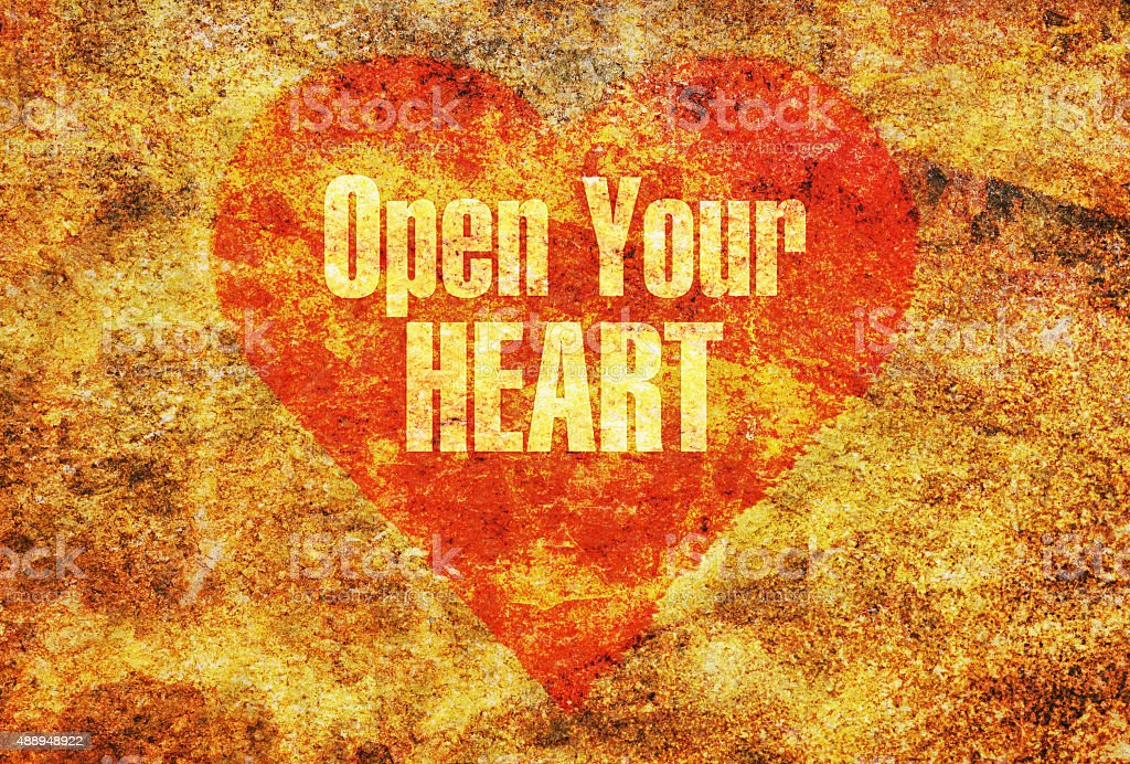 Open your heart stock photo