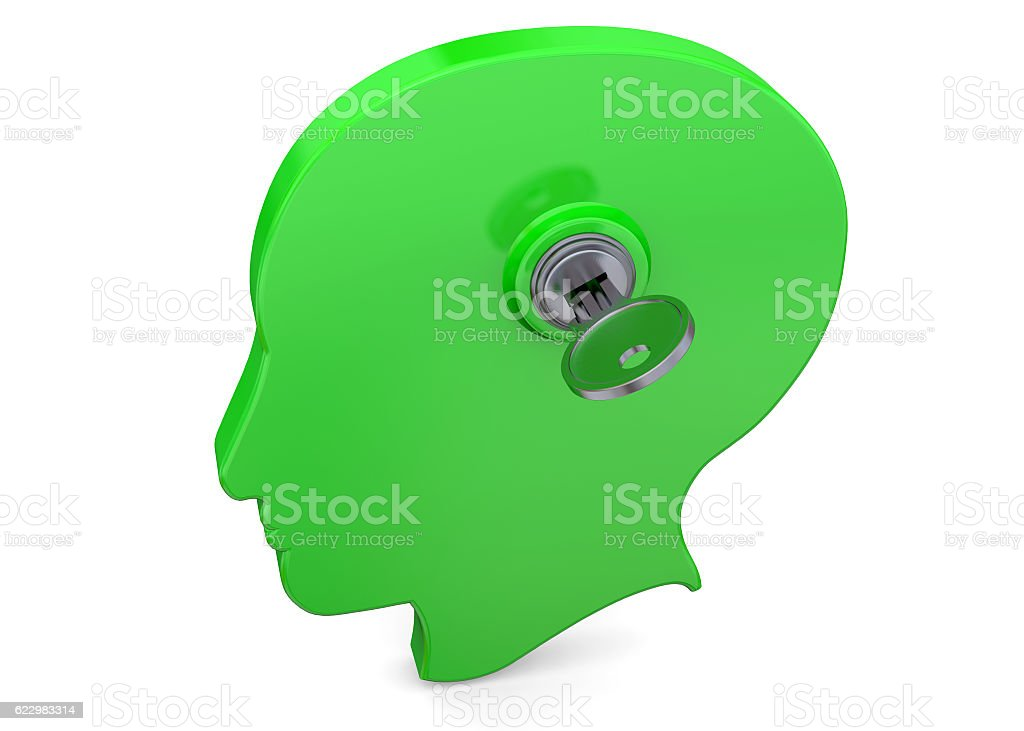 Open Your Mind - 3D stock photo