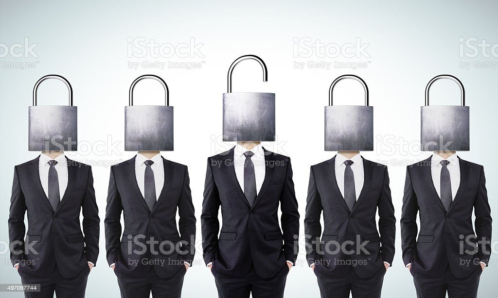 Open your mind business concept stock photo