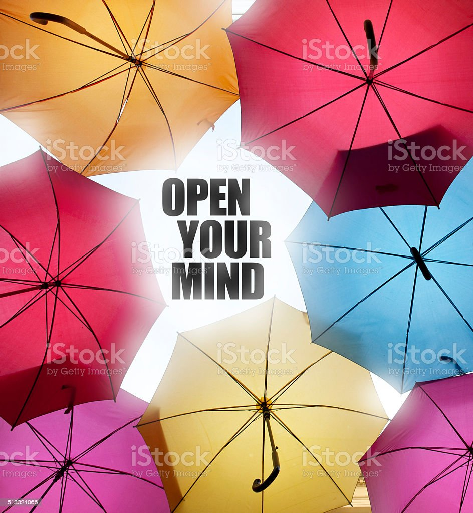 Open your mind stock photo
