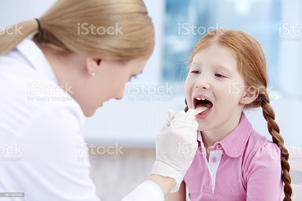 Open your mouth and say ahhh stock photo