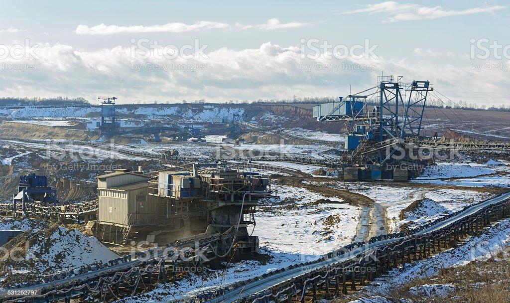 Opencast coal mine stock photo