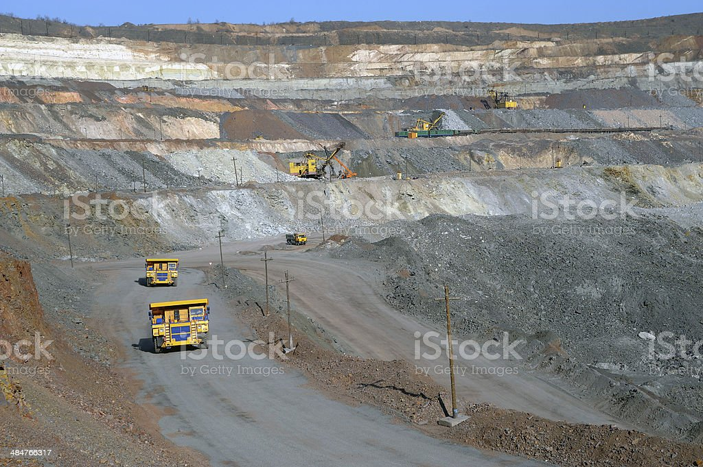 open-cast mine of iron ore stock photo