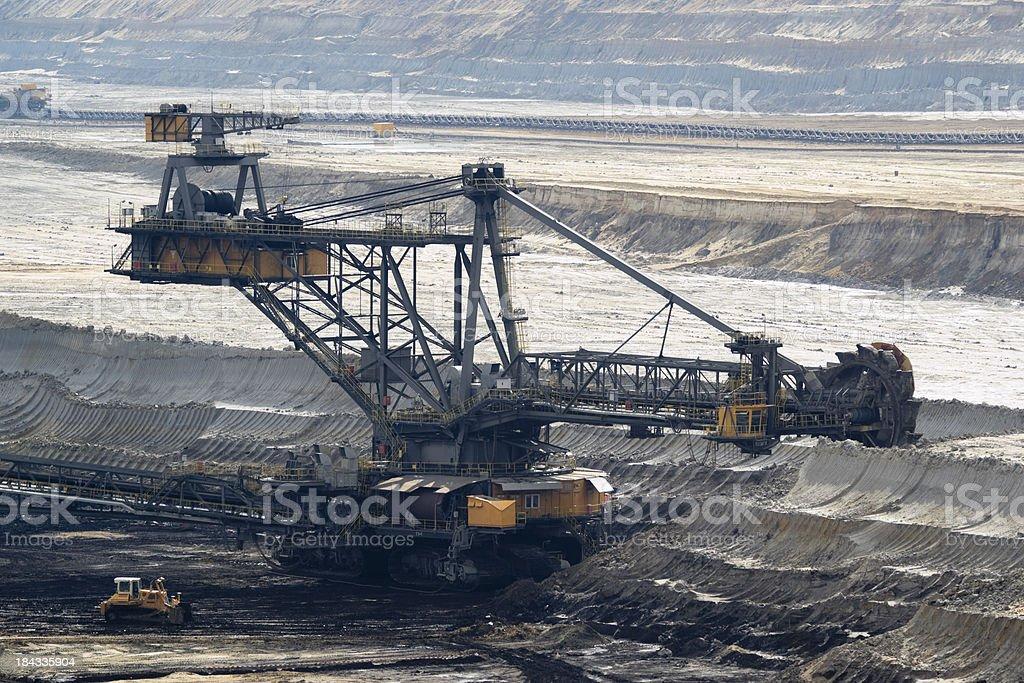 open-cast mining stock photo