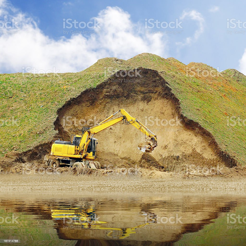 Opencast mining royalty-free stock photo