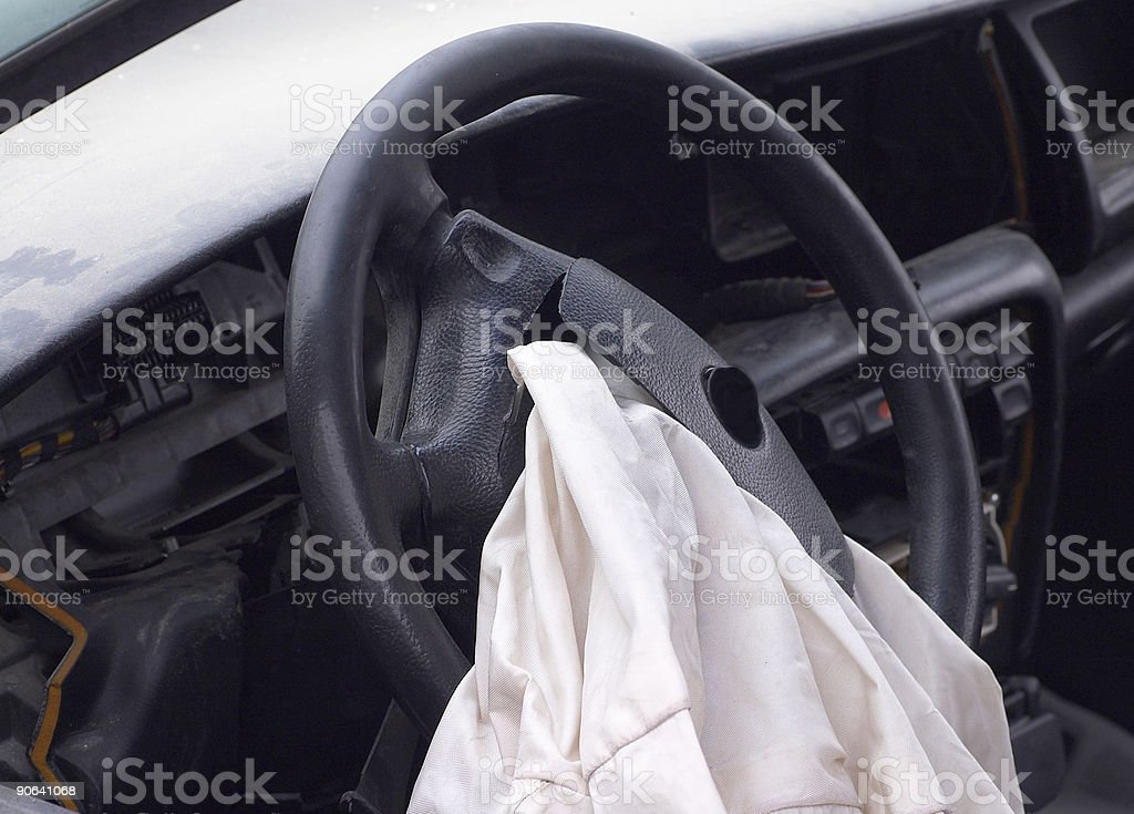 opened airbag royalty-free stock photo