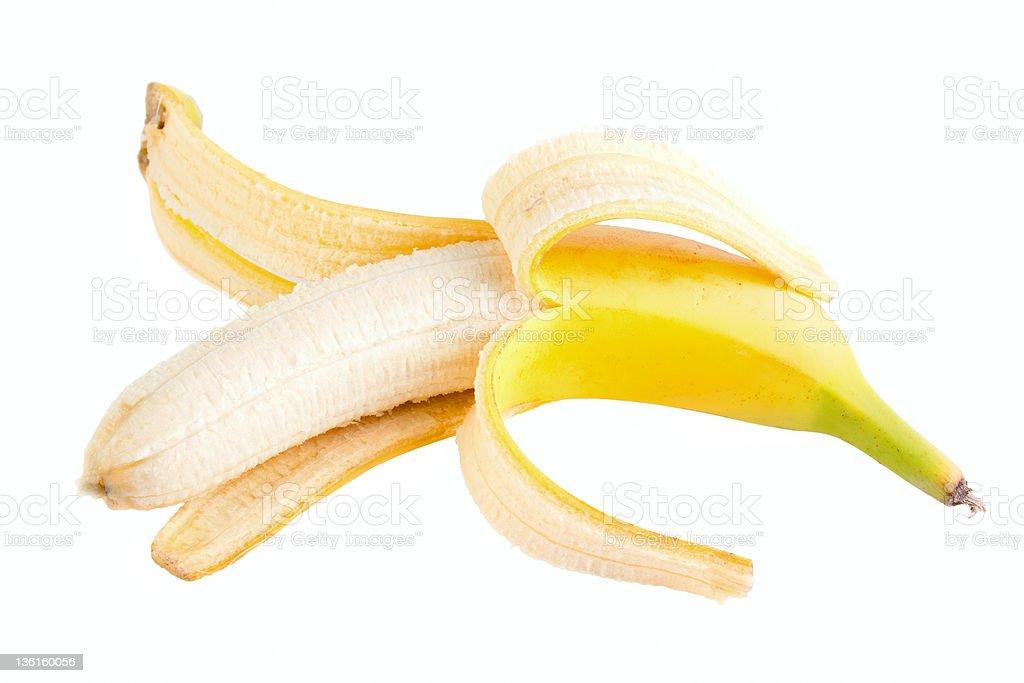 Opened banana royalty-free stock photo
