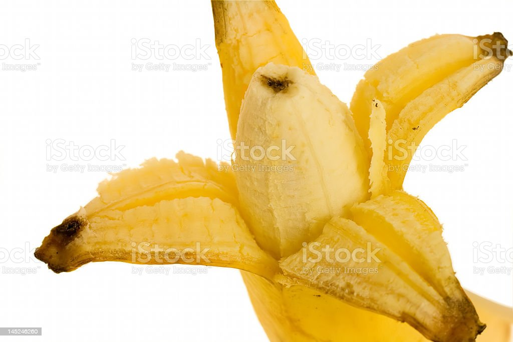 opened banana stock photo
