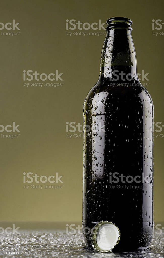 Opened beer royalty-free stock photo