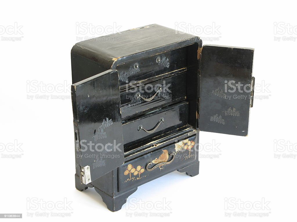 opened black casket royalty-free stock photo