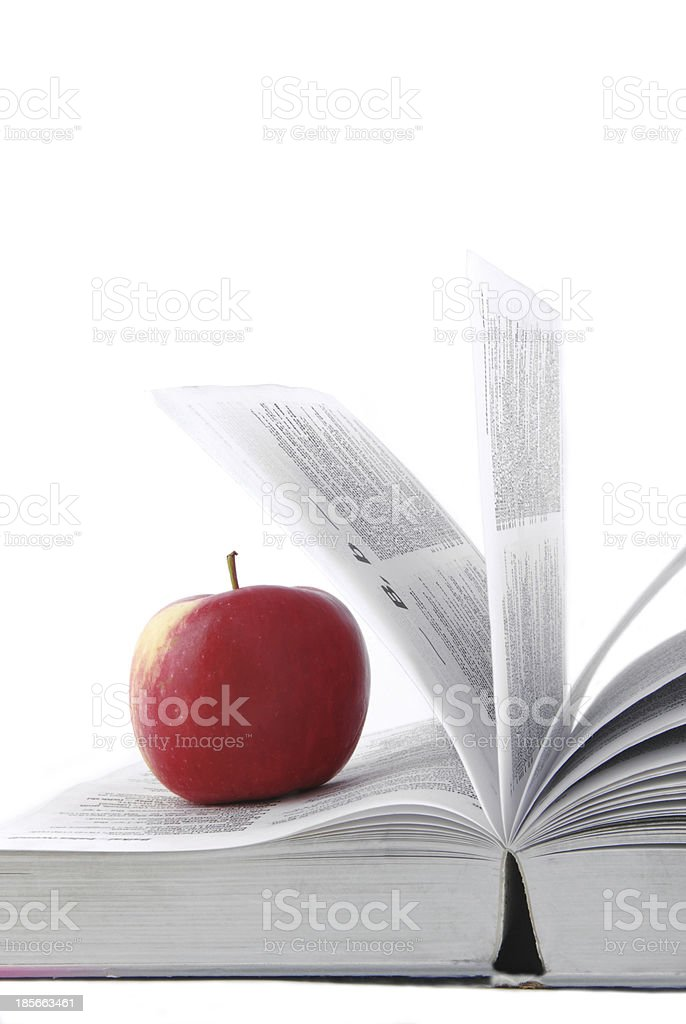 opened book isolated on white royalty-free stock photo