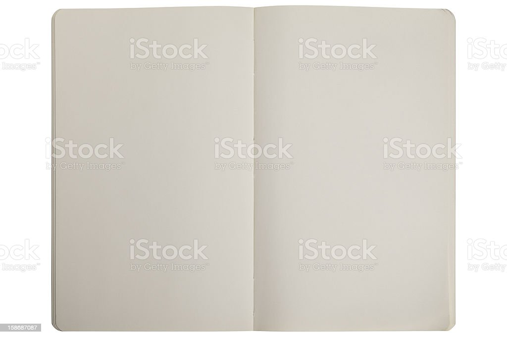 Opened Book With Blank Pages royalty-free stock photo