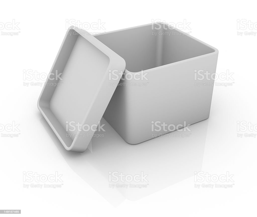 Opened Box royalty-free stock photo