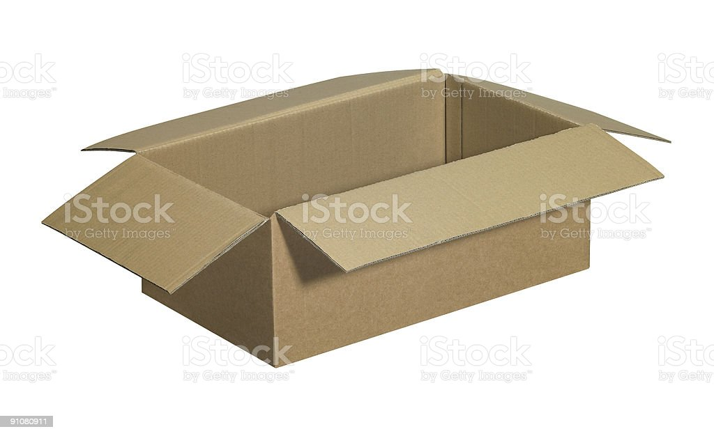 opened brown carton royalty-free stock photo