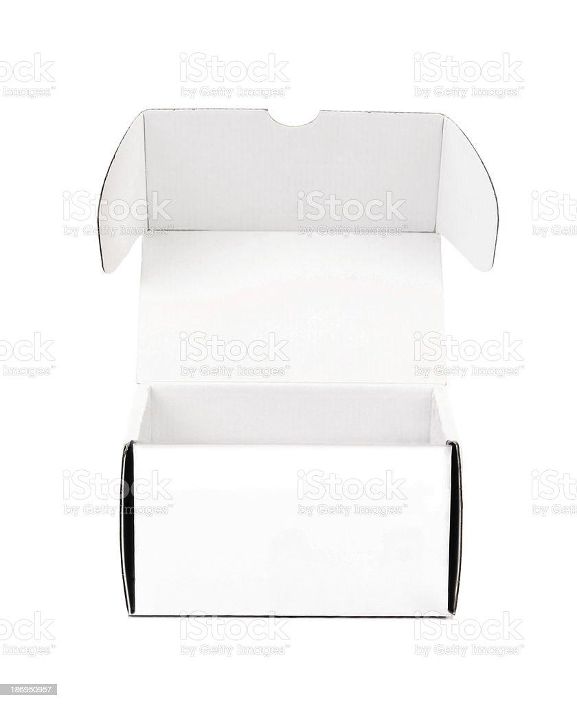 Opened cardboard box. royalty-free stock photo
