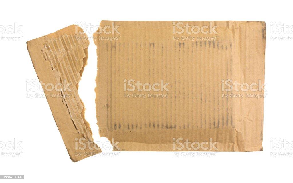 Opened cardboard mailer stock photo