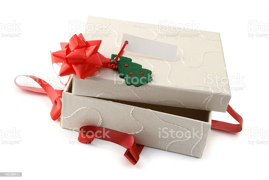 Opened Christmas gift royalty-free stock photo