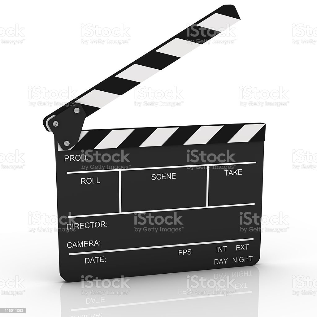 Opened Clapboard in Perspective stock photo