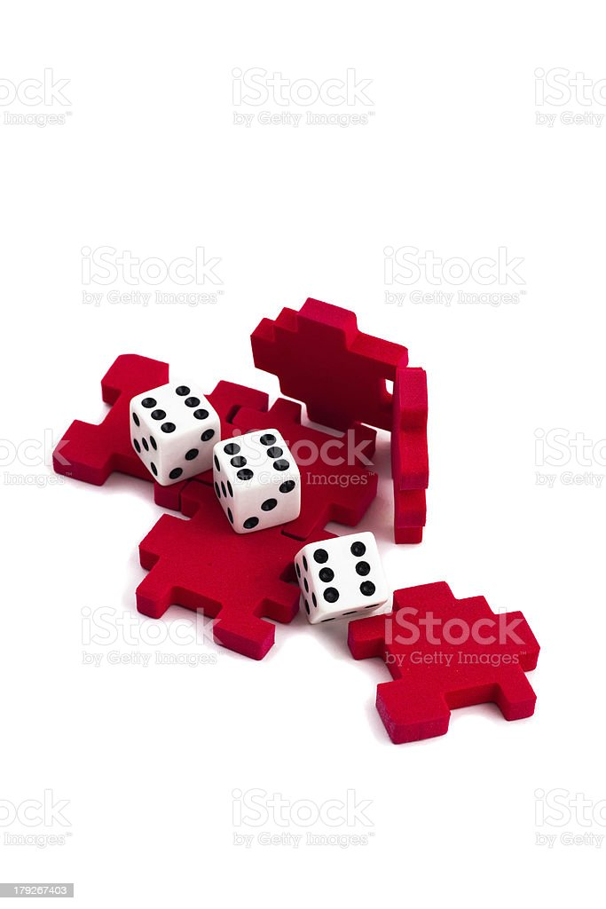Opened cube puzzle. Concept of problem solved. But royalty-free stock photo