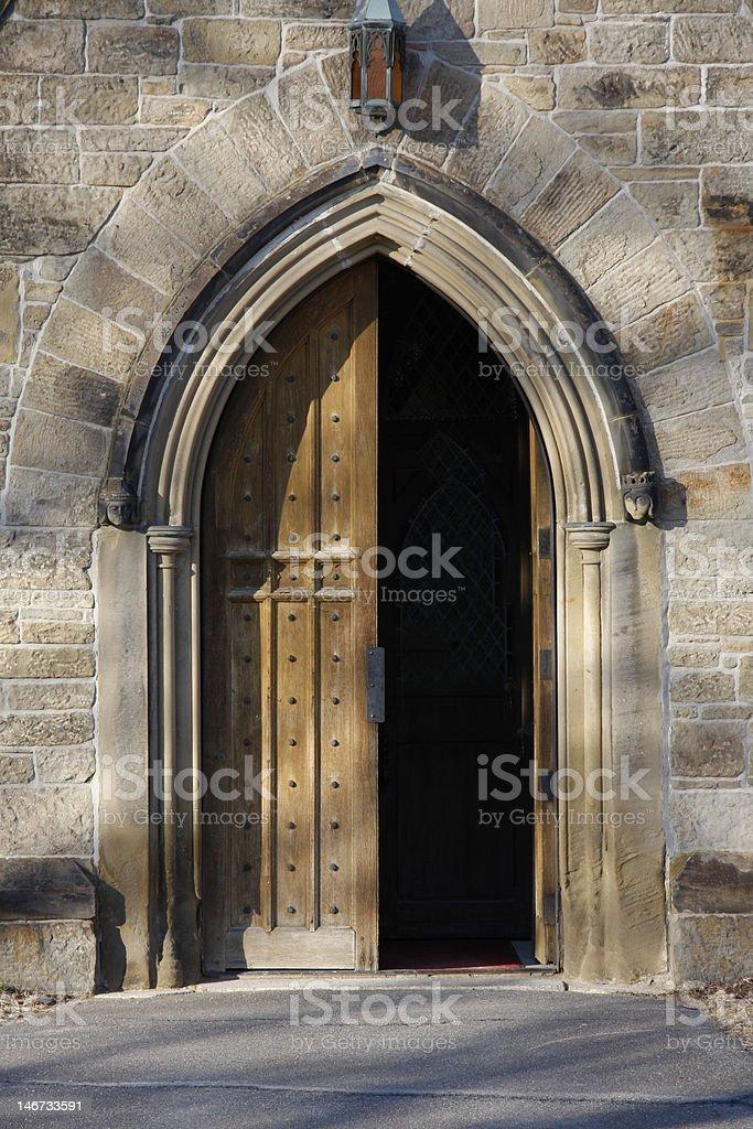 Otwarte drzwi zbiór zdjęć royalty-free
