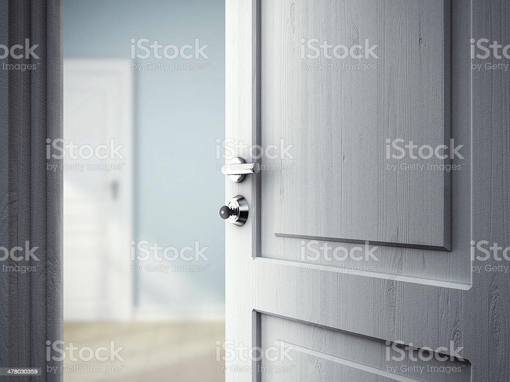 opened door royalty-free stock photo