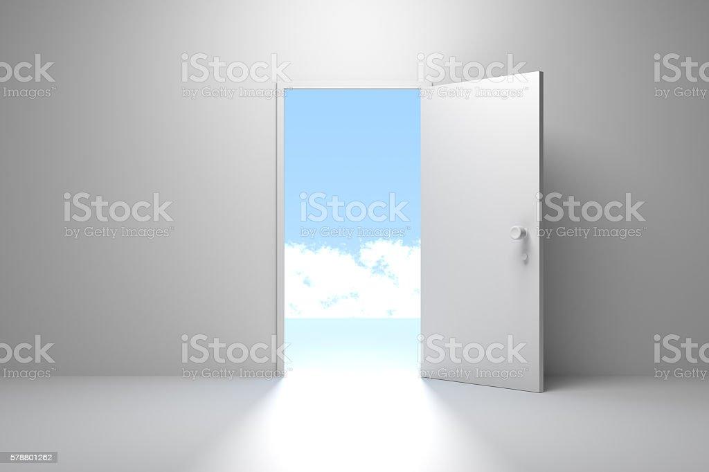 Opened Door, Successful Exit stock photo