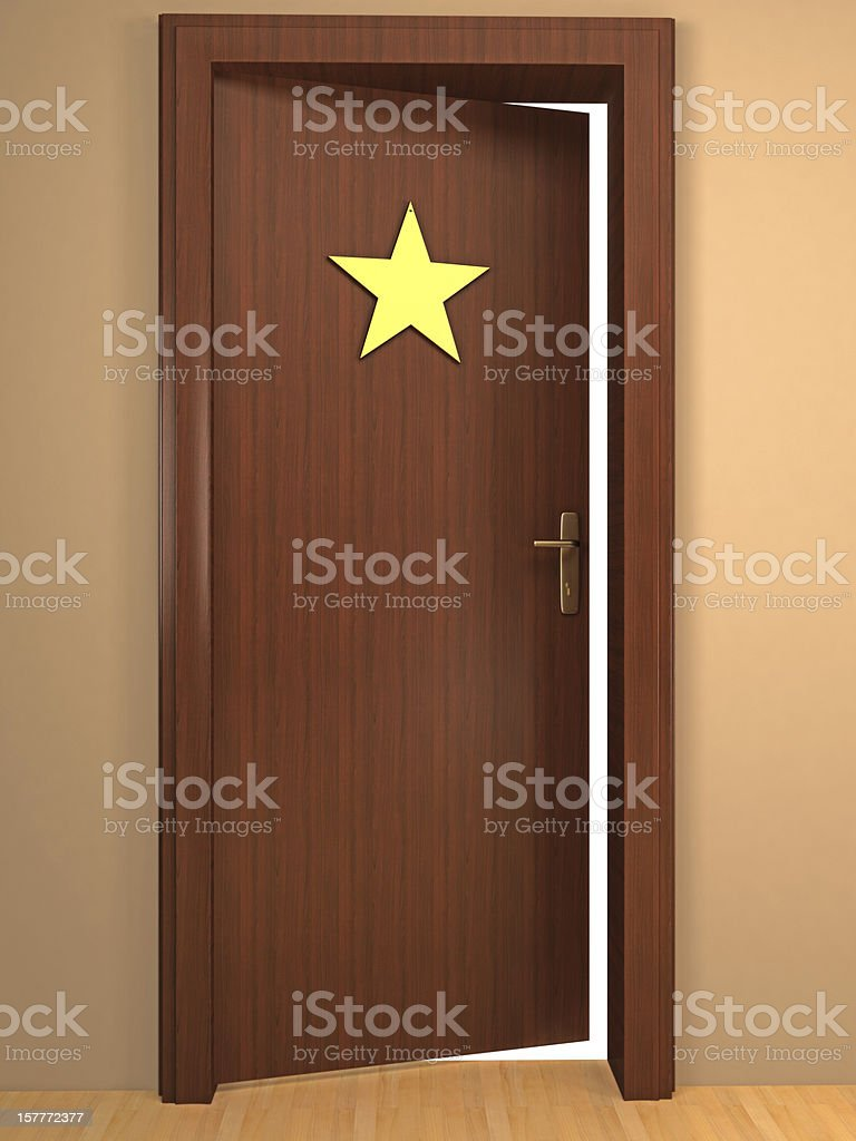 Opened Door to Become a Star stock photo