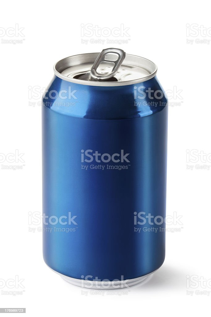 Opened drink can stock photo