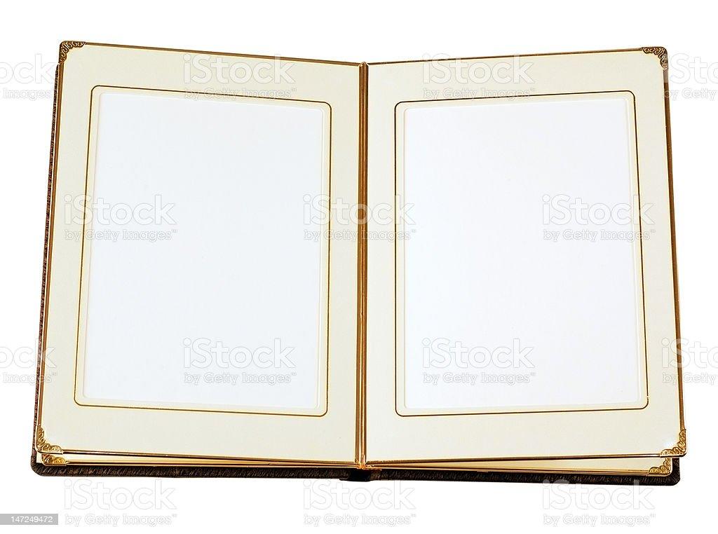 Opened empty album royalty-free stock photo