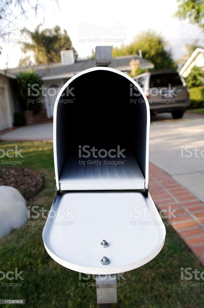 Opened Empty Mailbox stock photo