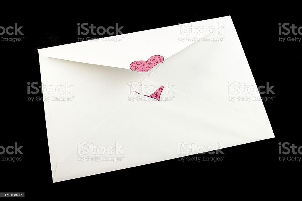 Opened Envelope royalty-free stock photo