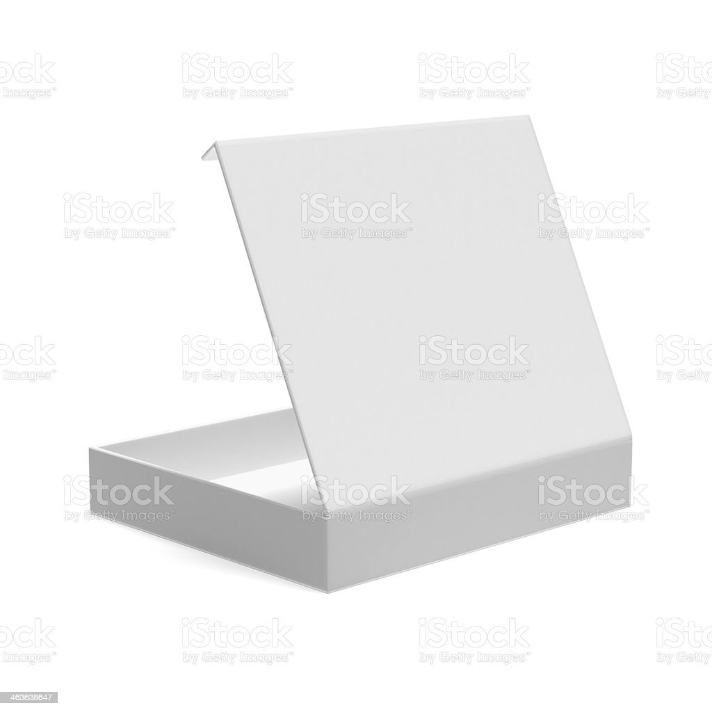 Opened flat box stock photo