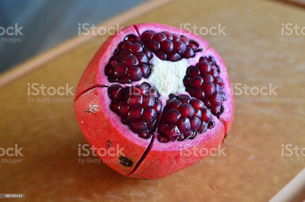 Opened Fresh Pomegrante stock photo
