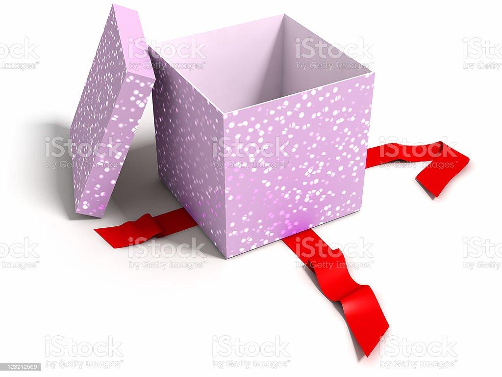 Opened gift box stock photo