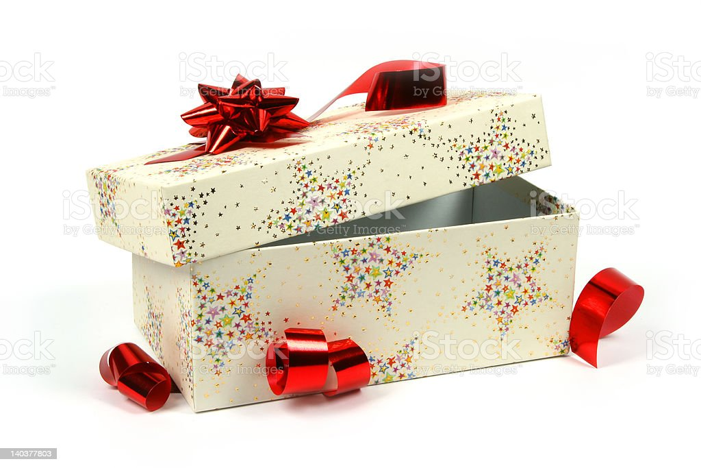 Opened gift royalty-free stock photo