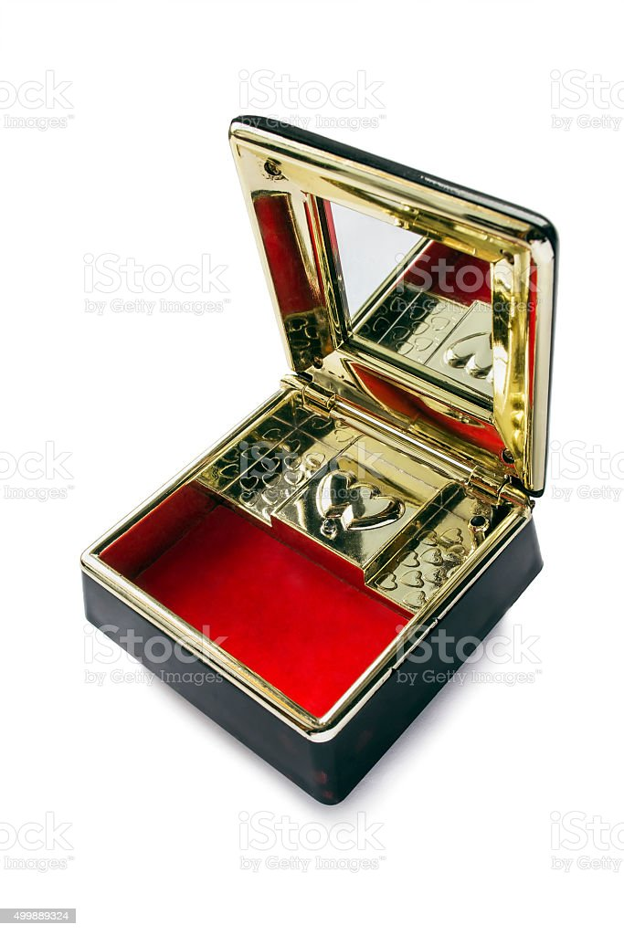 Opened music box stock photo