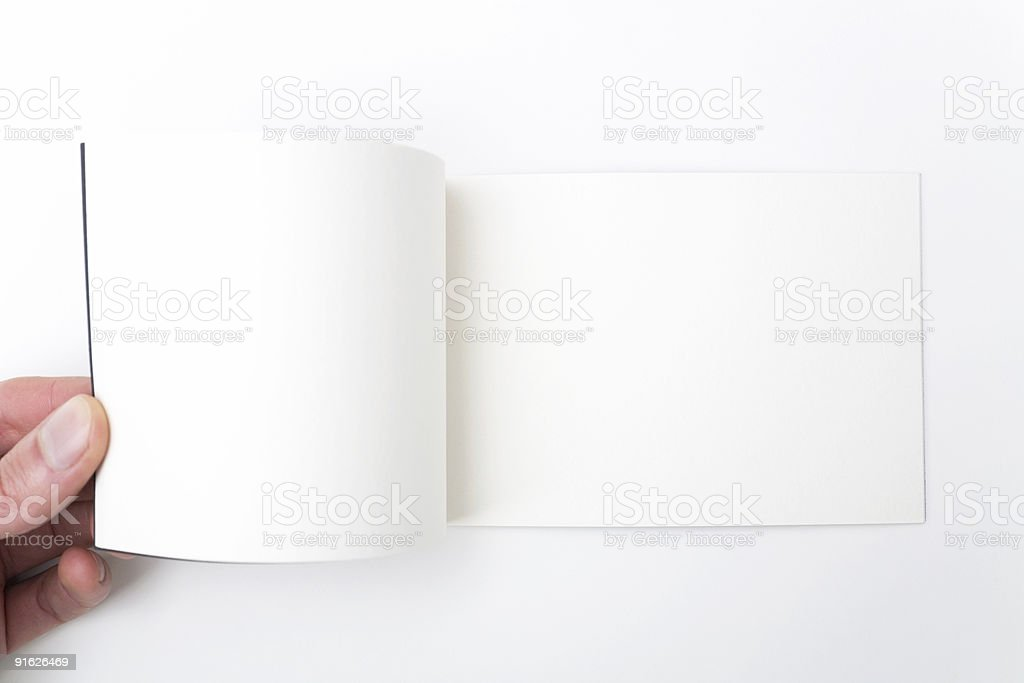 Opened Notebook stock photo