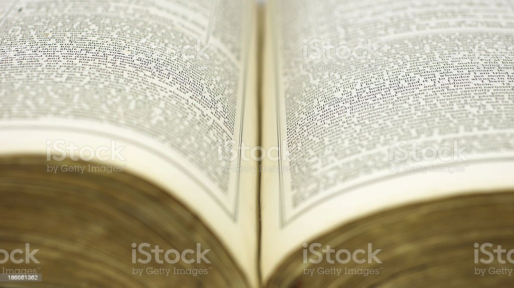Opened old book royalty-free stock photo